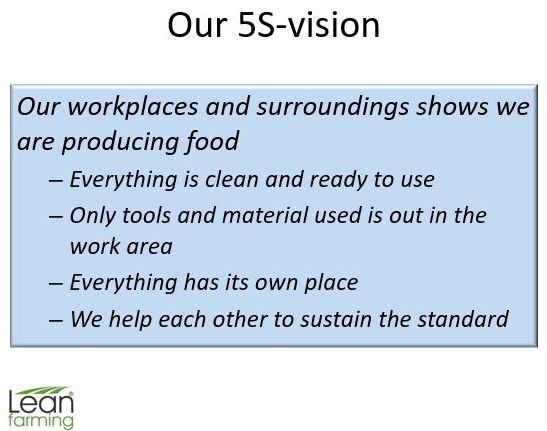 Lean Vision for a farm - Lean Farming