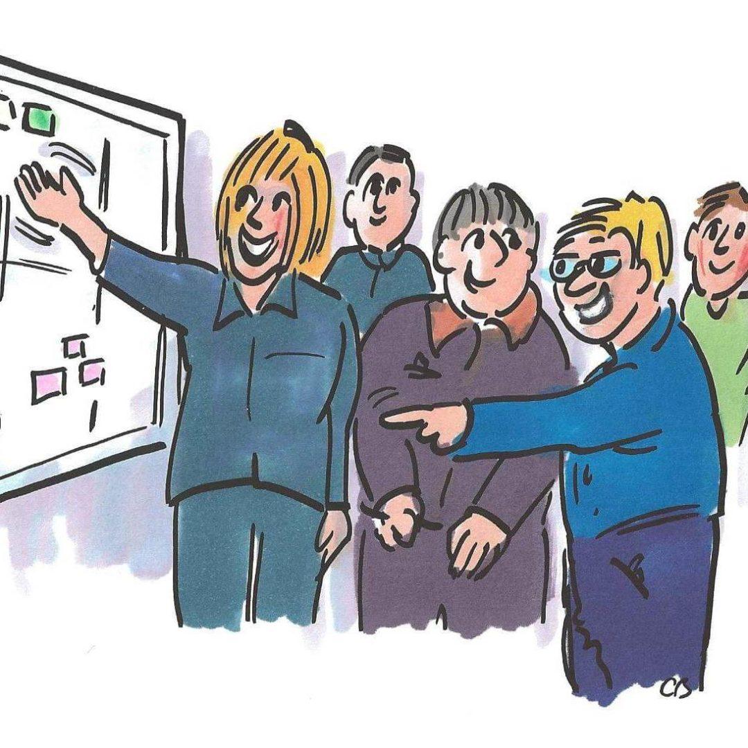 Lean Farming - Tavlemøde er en måde at involvere medarbejderne i at skabe løbende forbedringer på