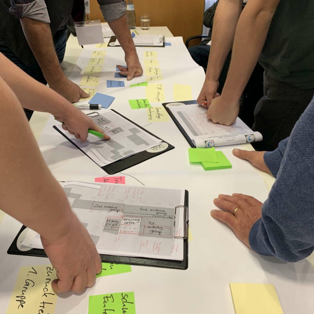 Lean Farming facilitate a workshop in Value Stream Mapping